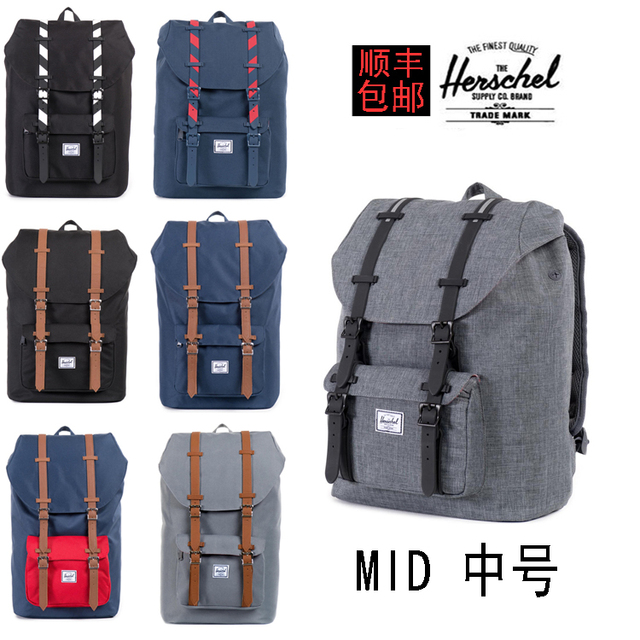9ecf736ecb1 13.5L Mid Little America Backpack Herschel Backpack British Men And Women  College Computer Wind SIZE 15 INCH