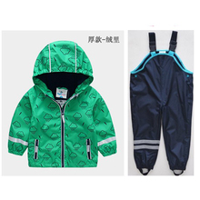 Boy foreign trade high quality windbreaker spring and autumn thin sunscreen waterproof breathable plus velvet baby raincoat jac