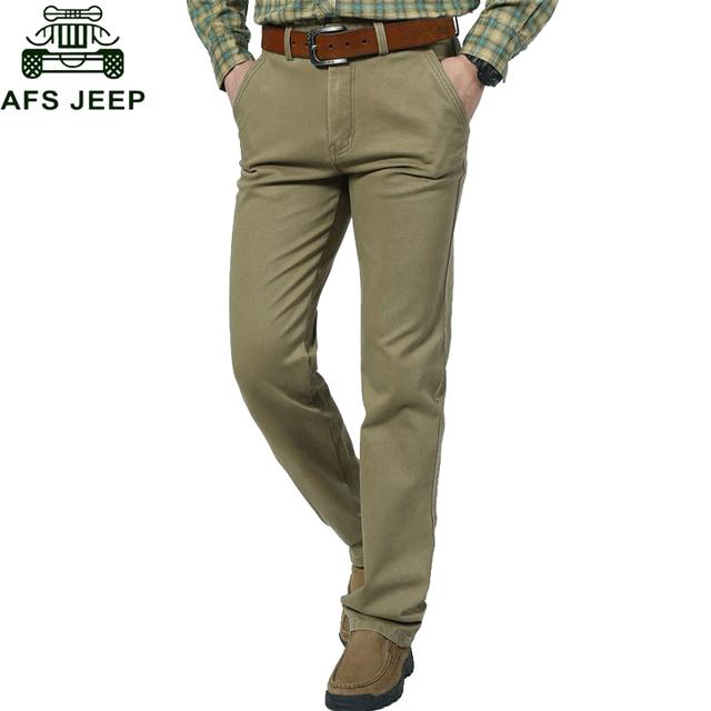 AFS JEEP 2016 el Tamaño Grande 30-44 Pantalones Hombres Ropa de Marca Pantalones Cargo Pantalones de Estilo Militar de los Hombres Regulares Primavera/otoño Pantalon Homme