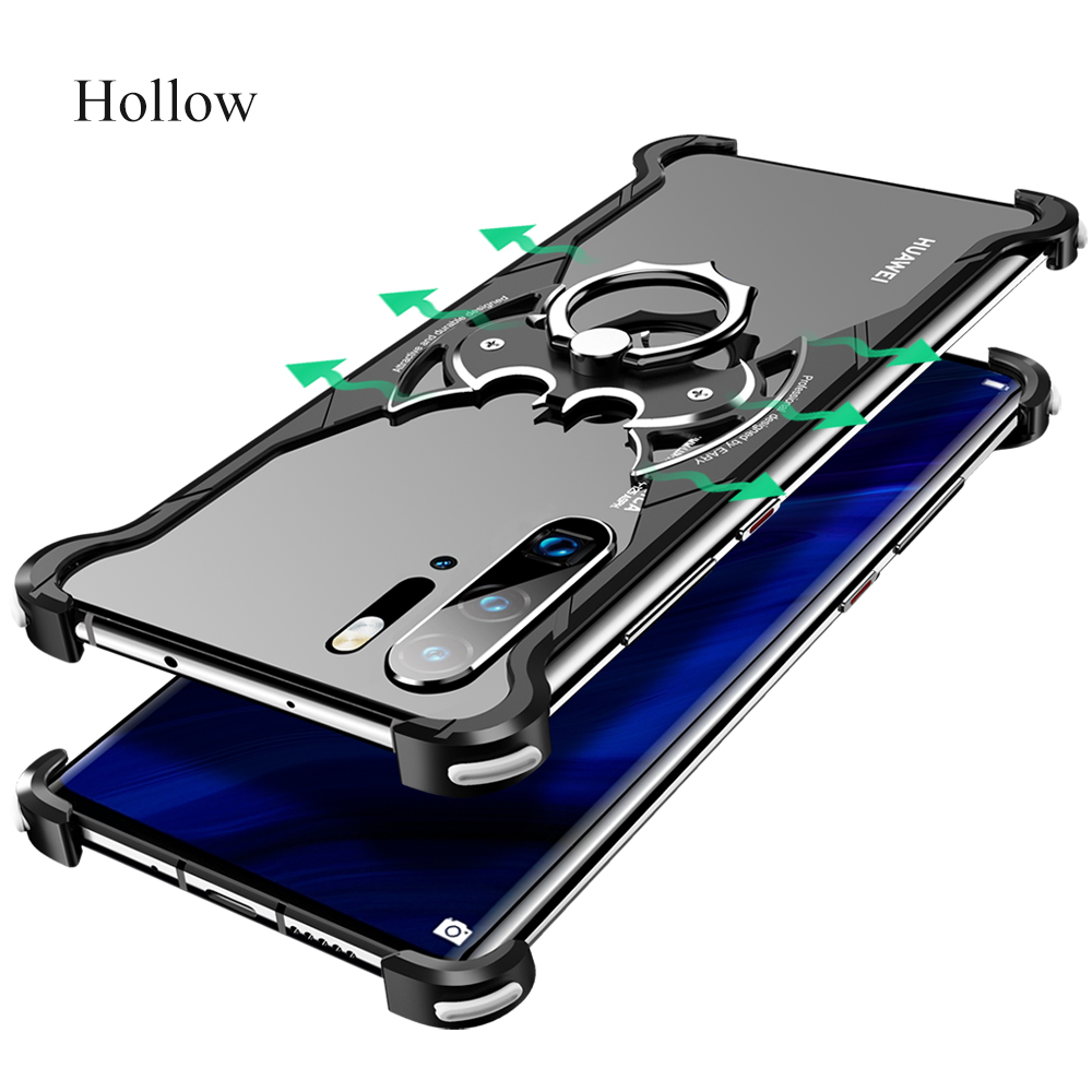 Image 5 - OATSBASF huaweip30 pro case for hua wei mate 30 pro case Luxury metal ring marvel 360 turnkey Original Bumper Back CoverPhone Bumpers   -