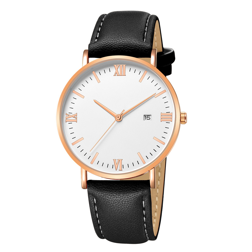 Women Dress Watches Top Luxury Quartz Ultrathin 8mm Stainless Steel Dial Leather Band Business Wrist Watch minimalist watches