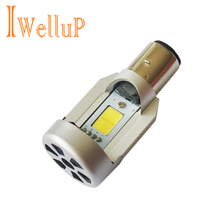 2016 New LED 20W*2 2000LM*2 Hi/Lo Beam DC12V 6500K BA20D Plug Led Motorcycle Headlight Bulbs Moped Scooter Motobike Headlamp