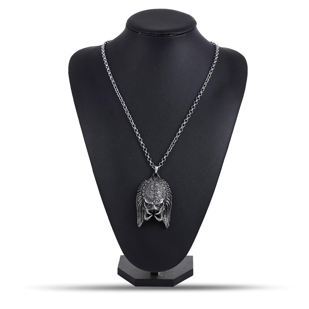 Alien V Predator Metal Pendant Necklace Alien Mask Accessories
