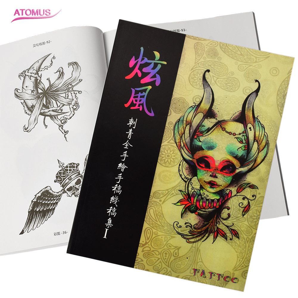 Full Hand Drawing Tattoo Sketch Reference Book Instruction Sheet Flash Art Design Tattoo Arm Body Art Coloring Book For Artists Tattoo Sketch Tattoo Sketch Booktattoo Book Aliexpress