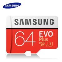 Original SAMSUNG Micro SD 64 u3 Speicher Karte 64GB Class10 TF Karte C10 SDXC UHS-I EVO mini Microsd carte sd 64 gb Dropshipping