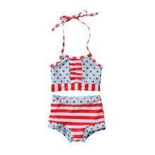 Summer Baby Girls Swimwear Set Polka Dot Tankini Bikini Set Swimsuit Strappy Bathing Suit Two-Piece Beachwear for Kids