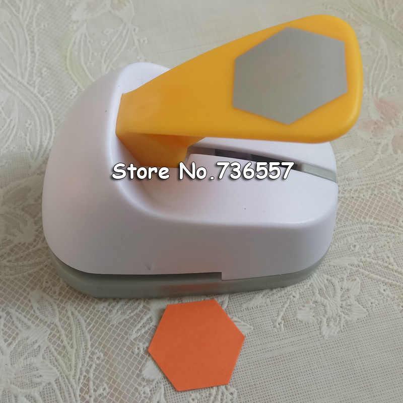 Livraison gratuite grand hexagone en forme d'économie de papier d'alimentation/eva craft punch Scrapbook à la main perforateurs bricolage perforateur