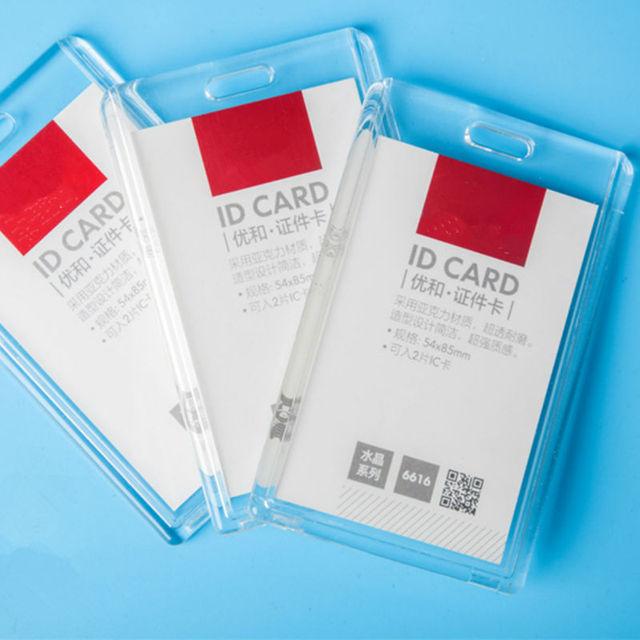 Акриловый прозрачный банк держателей кредитных карт высокое качество знак держатель Кристалл карты шины ID Держатели Пластик без шнурки