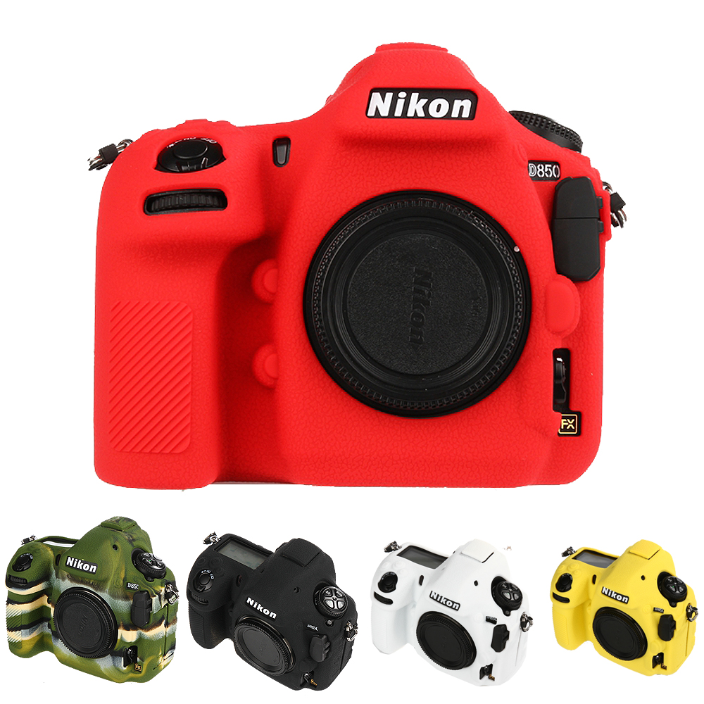 Nice Soft Silicone Rubber Camera Protective Body Cover Case Skin For Nikon D850 Camera Bag caenboo 6d 70d 60d camera bag soft silicone rubber protective camera body cover case skin for canon eos 6d camouflage black red