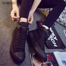 ARSMUNDI 2019 New Spring Fashion High Top Sneakers Canvas Shoes Women Casual Shoes White Flat Female Lace Up Casual Shoes M442 стоимость