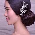Wedding handmade pearl hair ornaments white Rhinestones hair hairpin hair jewelry 2 pcs / bag free shippingXTS008