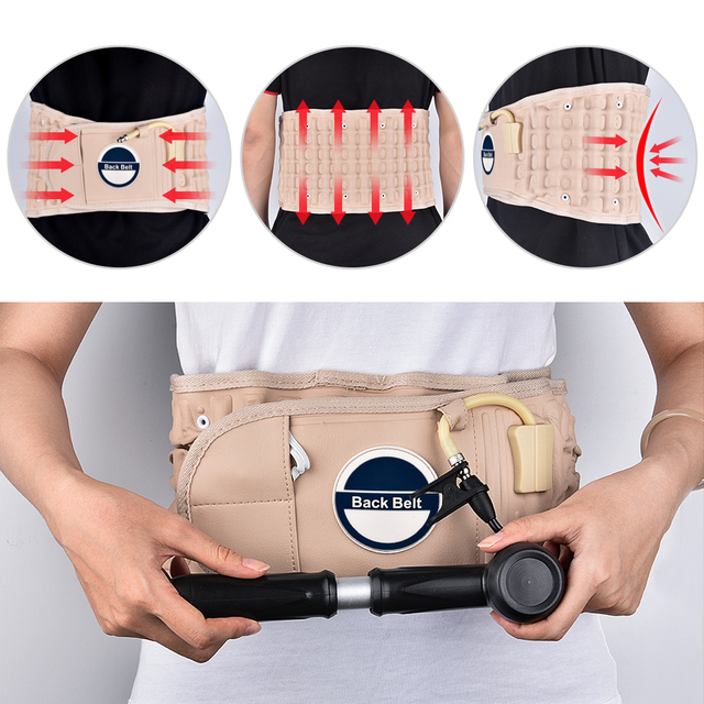 Brace Support Belt Care Decompression Back Relief Waist Traction Backache Heat Therapy Pain Massager Bone Health Care Tool 4
