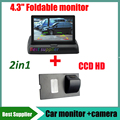 2in1 Car monitor TFT 4.3'' HD + CCD HD Car rear view backup camera for Land Rover Discovery 3 4 Range Rover Sport Freelander 2