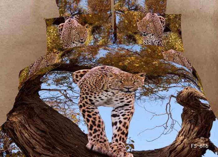 3d Leopard Animal Print Tree Bedding Set Queen Size Duvet