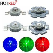 10-100PCS 3W RGB Red Green Blue White 4 6pin LED Dioded Blub Chip Light Lamp Part with 20mm Star For Foodlight Spotlight(China)