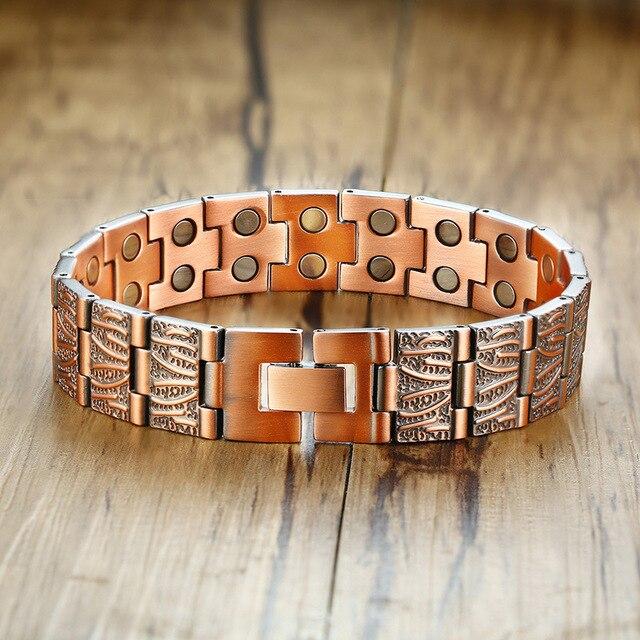 Фото модные ювелирные изделия медный цвет 2 стиля браслеты мужские