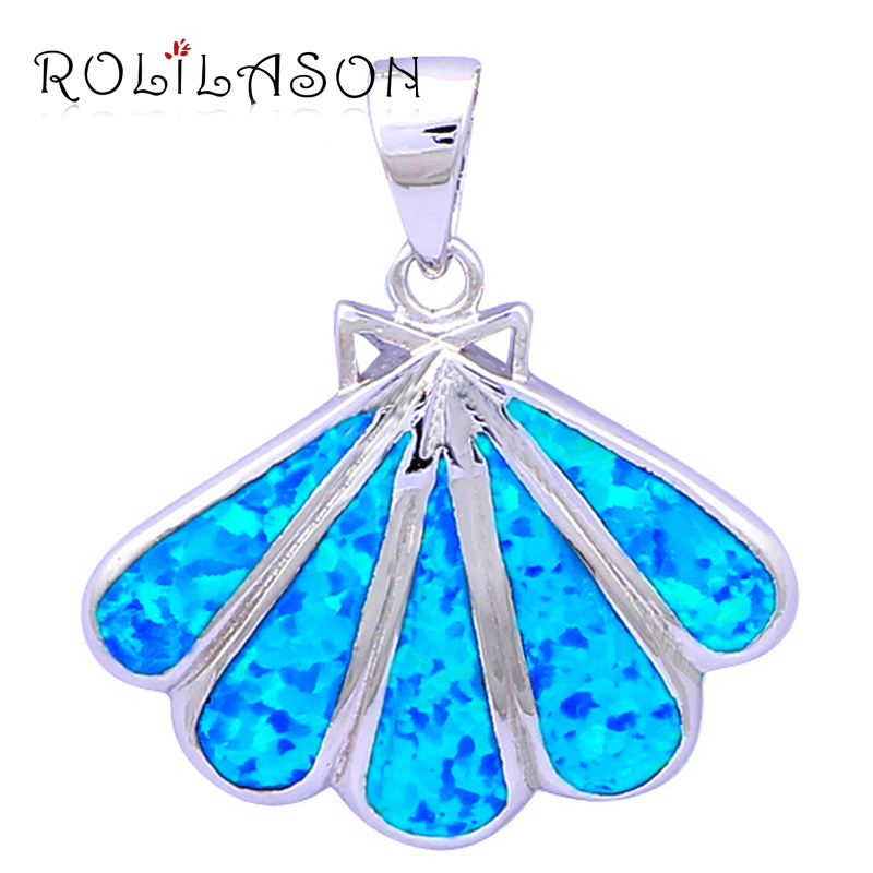 Amazing wide leaf style online blue fire opal silver stamped amazing wide leaf style online blue fire opal silver stamped pendants for women wedding fashion jewelry op391 in pendants from jewelry accessories on mozeypictures