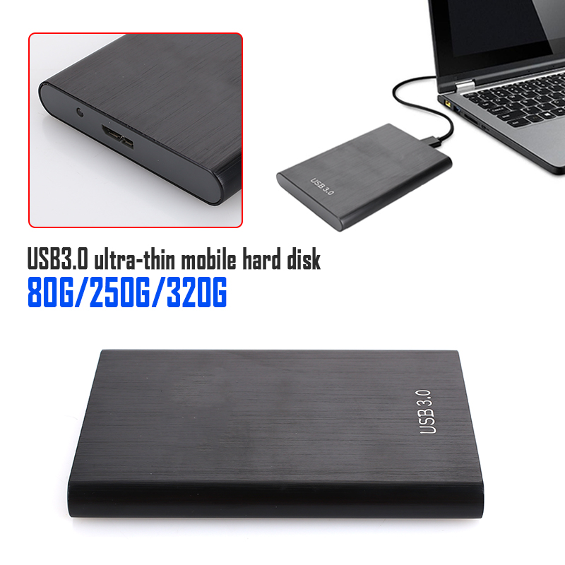 Brand New External High Speed Mobile Hard Drive 80G/250G/320G Desktop Laptop Storage Devices Mobile Hard Disk