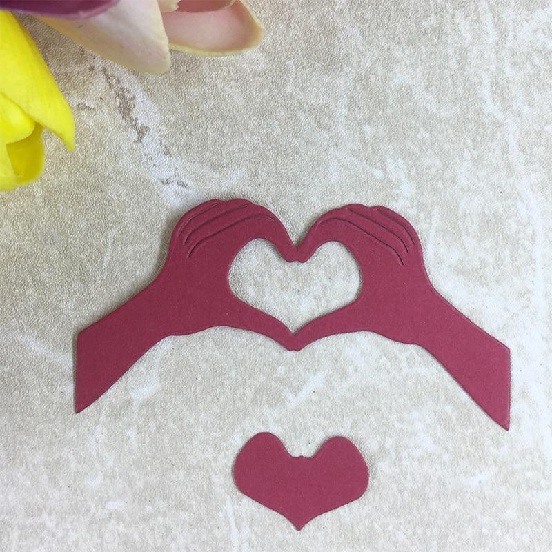 YLCD316 Love Gesture Metal Cutting Dies For Scrapbooking Stencils DIY Album Cards Decoration Embossing Folder Die Cuts Template