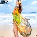 2016 Cashew Pattern Printed Oversized Scarf Shawl Summer Sarong Beach Coverups Women Chiffon Silk Scarf Transparent Pareo Beach