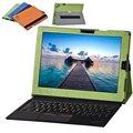 Nova capa case para lenovo thinkpad x1 12 polegada tablet acessórios magnético estande tampa da caixa de casos + otg + stylus pen