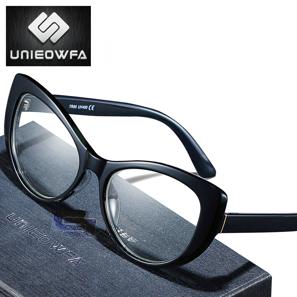 TR90 Frame Prescription Glasses Women Retro Cat Eye Eyewear Optical Myopia Eyeglasses Progressive Photochromic Eye Glasses Brand