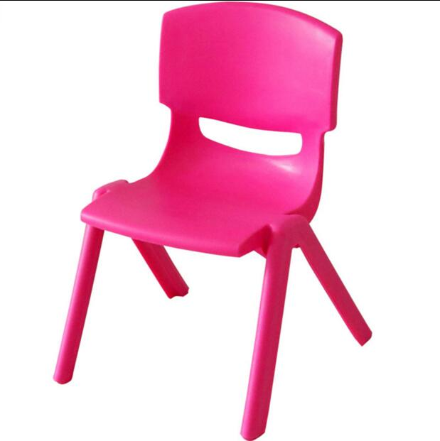 4pcsAdd thick kindergarten chair plastic back baby to eat small stool children write home bench delicate.