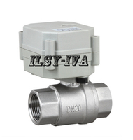 DN20 G3/4 electric valve DC9~24V SS304 two way motorized ball valve