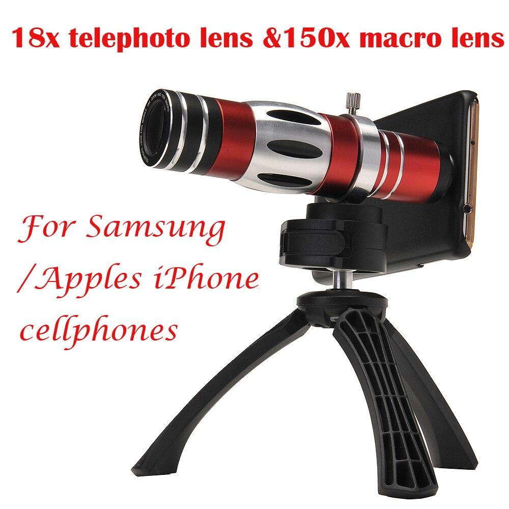 imágenes para Apexel Teléfono Móvil 18X Teleobjetivo y 150X Telescopio Lente de La cámara Macro para Samsung Galaxy iPhone de Apple 6 6 plus CL-89