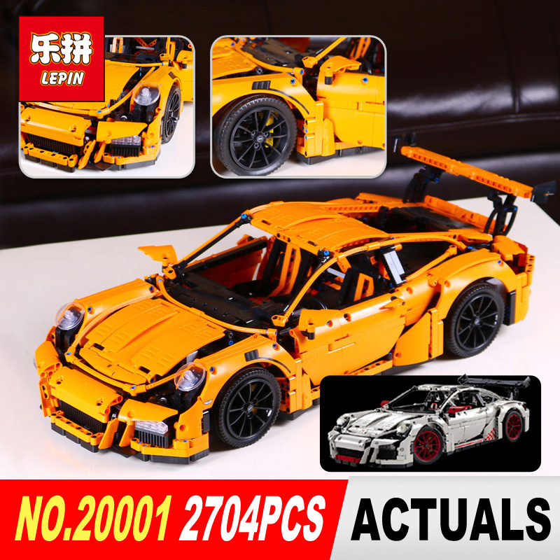 New LEPIN 20001 20001B Technic Series 911 GT3 RS Race Car Model Building Kits Blocks Bricks Compatible 42056 Boys Gift