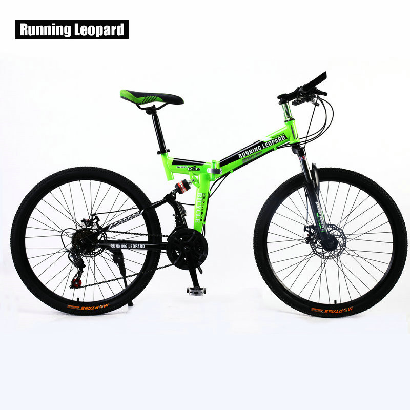 Running Leopard <font><b>26</b></font> inch 21 speed bicycle front and rear shock absorber mountain bike cross country bicycle student <font><b>bmx</b></font> image
