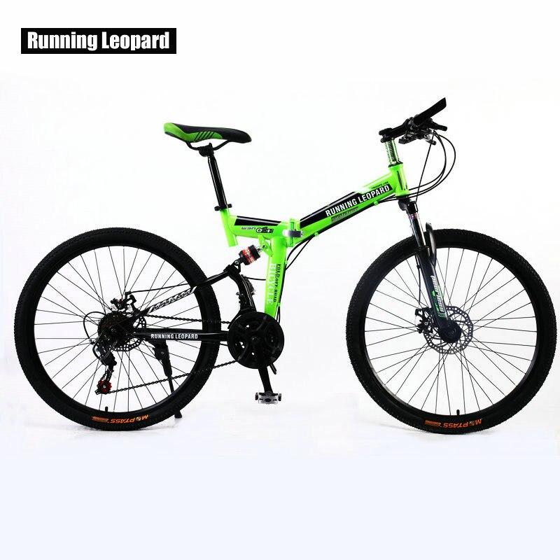 Running leopard 26 polegada 21 velocidade da bicicleta frente e traseira amortecedor mountain bike cross country estudante bmx