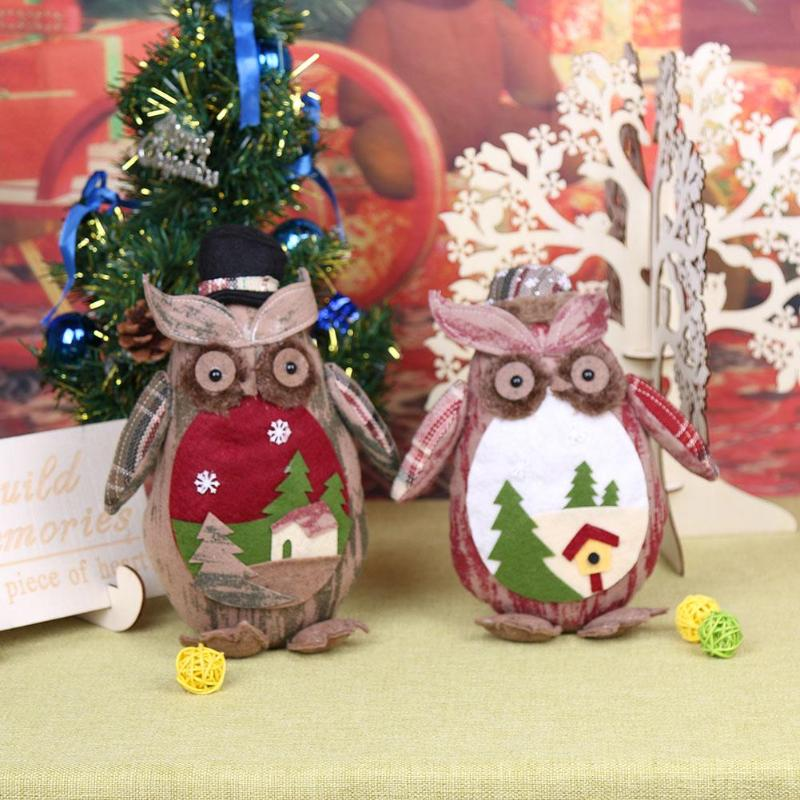 1pc cute owl toy christmas toys christmas decorations for home tree ornaments kids gifts large table dolls new year decor diy in pendant drop ornaments