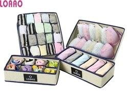 LOAAO new Storage Box bag Home Organizer boxes underwear necktie socks box Eco-Friendly bra box Storage organizer Bins