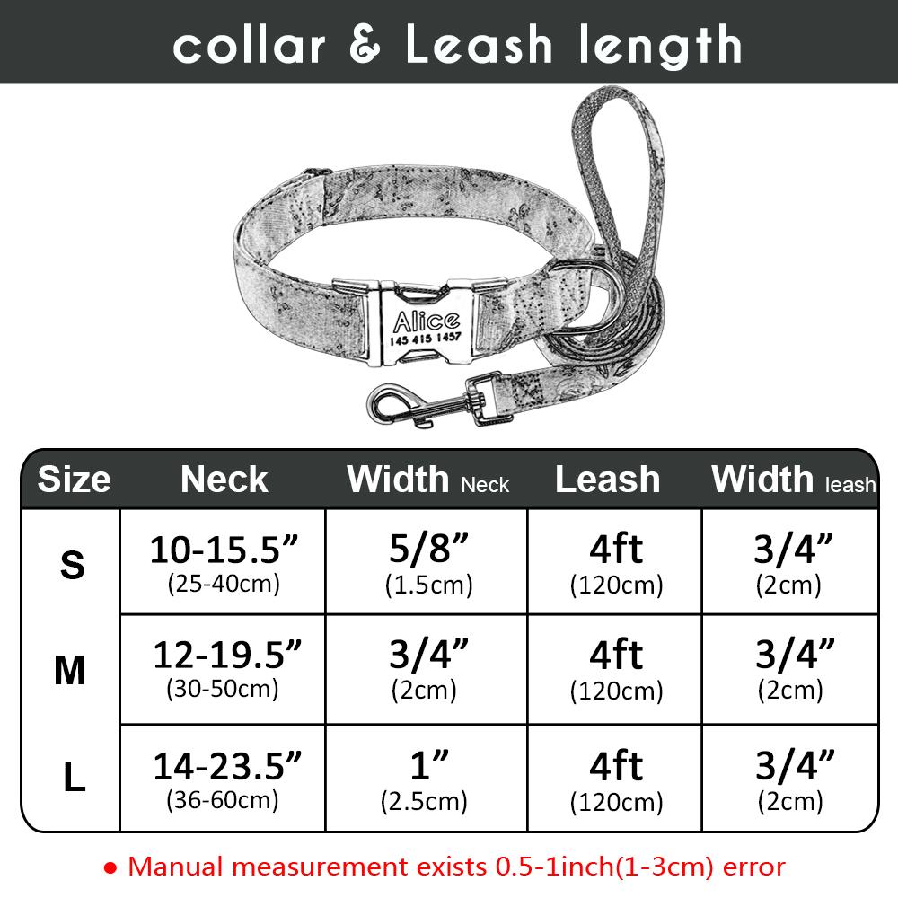 Collar de Nylon personalizado para perros 1