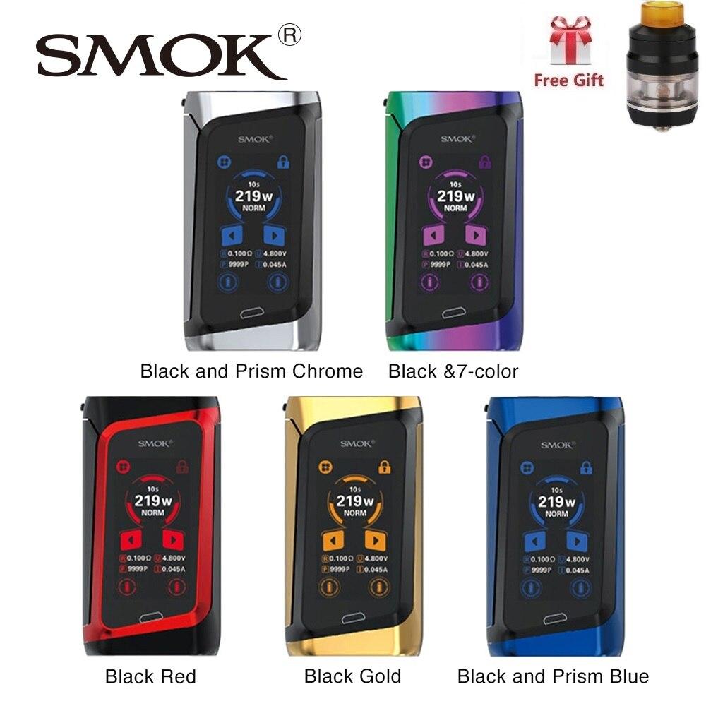 Réservoir gratuit!! SMOK MORPH 219 écran tactile TC Box MOD w/291 W sortie & 0.001 S vitesse de feu No 18650 batterie Mod Box Vs g-priv