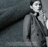 2016 Japanese imports of dark grey color worsted wool cloth thin fabric