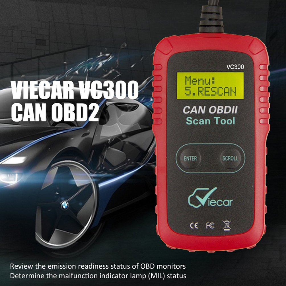 Scanner Diagnostic Code Reader Reliable VC 300 OBD2 OBDII Car Diagnostic Tool