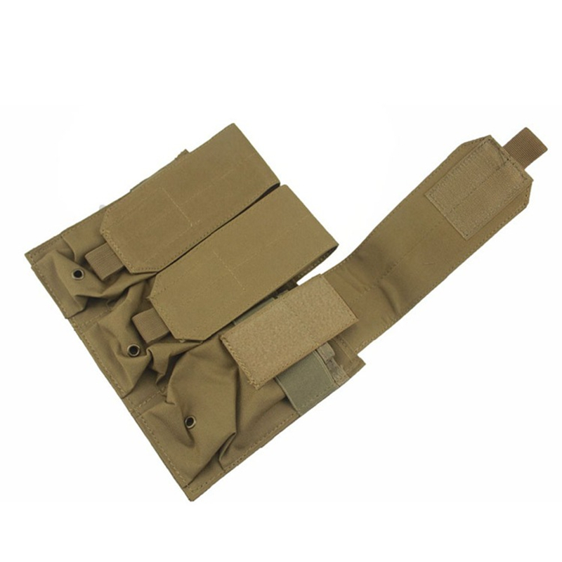 Tactical PALS MOLLE AR M4 5.56/.223 Triple Magazine Pouch Mag Holder For Pistol Handgun image