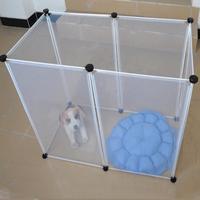 6pcs Run Cage DIY Dog Pet fence Foldable Rabbit Transparent Dog Fence Puppy Iron