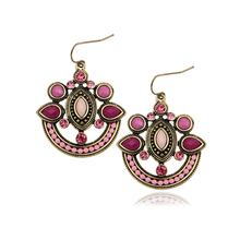Enthic New Arrival 2016 Fashion Women Vintage Colorful Beads Statement Drop Earrings Female Jewelry Bohemia Brincos