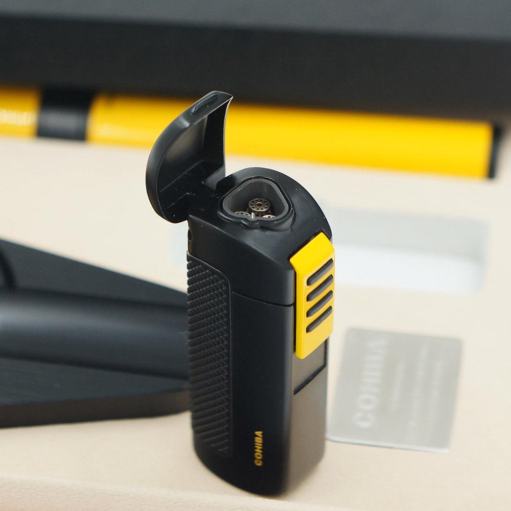 COHIBA черная сигарная Зажигалка пепельница желтая гидратирующая трубка подарочный набор для путешествий - 2