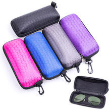 2019 Hot Candy Colors Case For Glasses Protable Rectangle Zipper Sunglasses Hard Eye Protector Box MSJ99