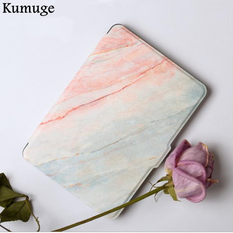 Fashion Marble Case for Amazon Kindle Paperwhite 1/2/3 Ultra Slim PU Leather Tablets e-Books Case 6 for Kindle Paperwhite Capa kindle paperwhite 1 2 3 case e book cover tpu rear shell pu leather smart case for amazon kindle paperwhite 3 cover 6 stylus