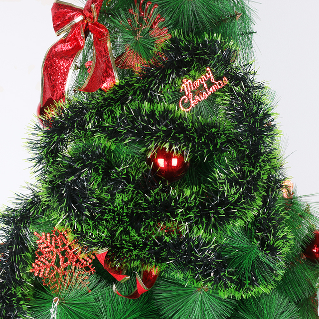 Us 0 84 27 Off 200cm Colorful Christmas Decoration Bar Tops Ribbonwhite Dark Green Cane Tinsel Garland Christmas Tree Ornaments Party Supplies In