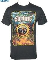 GILDAN Zwyczaj Drukowane Koszule Gildan Crew Neck Nowy Styl Krótkie rękaw Sublime Zespół Pod Morza Słońce Logo Mens Tee koszula