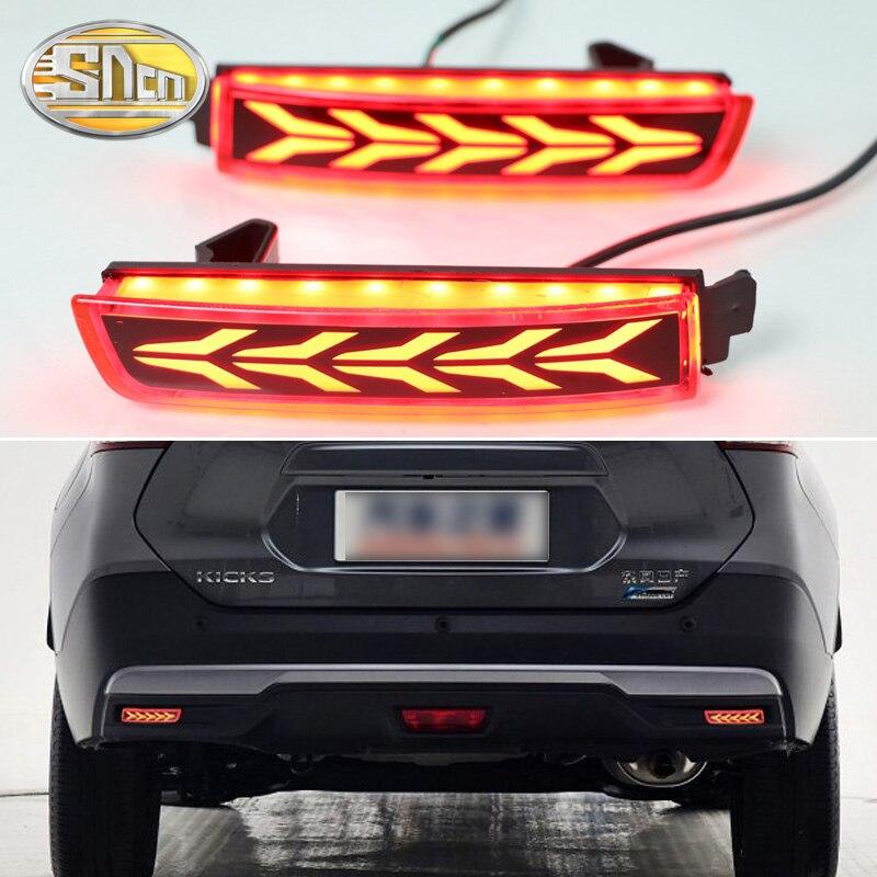 2pcs For Nissan Kicks 2017 2018 Multi Functions Car Tail Light Led