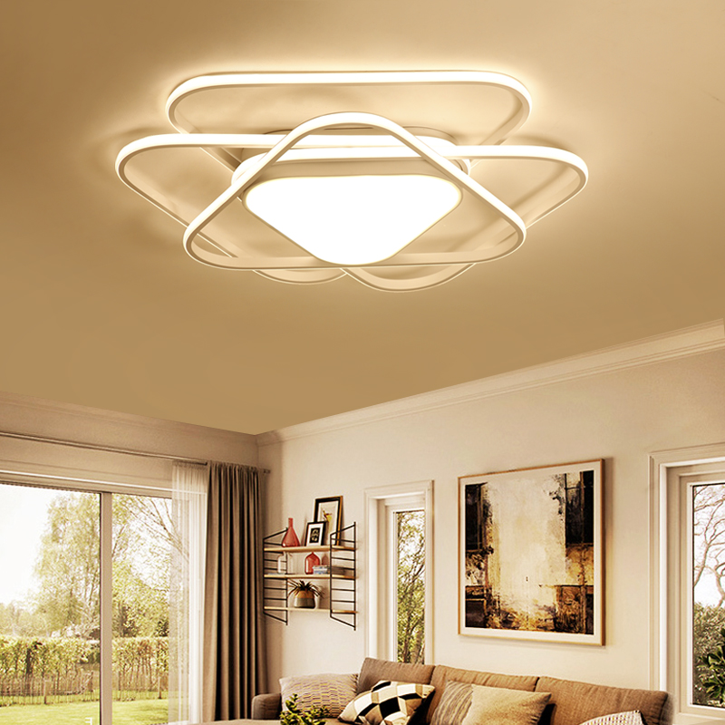 2018 Modern wrought iron acrylic aluminum interior lighting ceiling lamp lamparas de tec ...