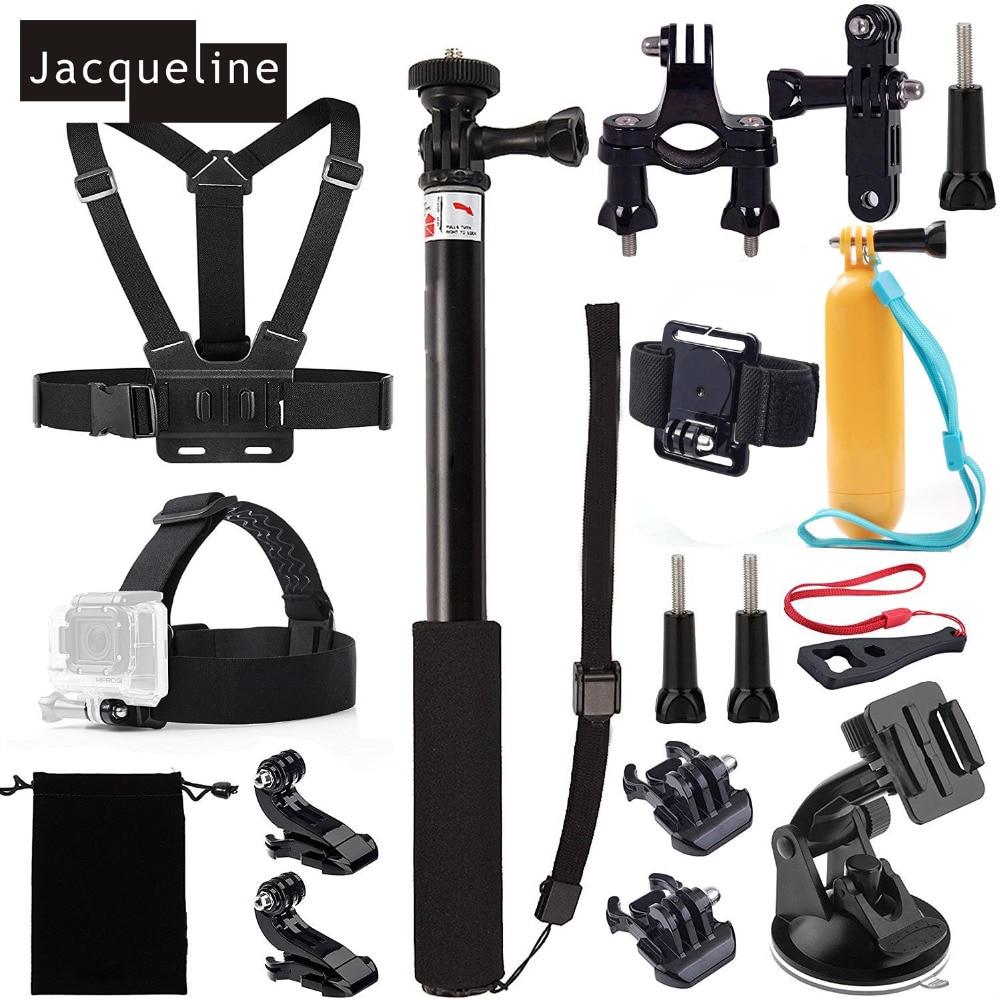 Jacqueline for Accessories Kit for Gopro Hero 6 Session 5 Hero 4/3+/3/2 for SJCAM SJ5000 for EKEN H9 for Yi action cam