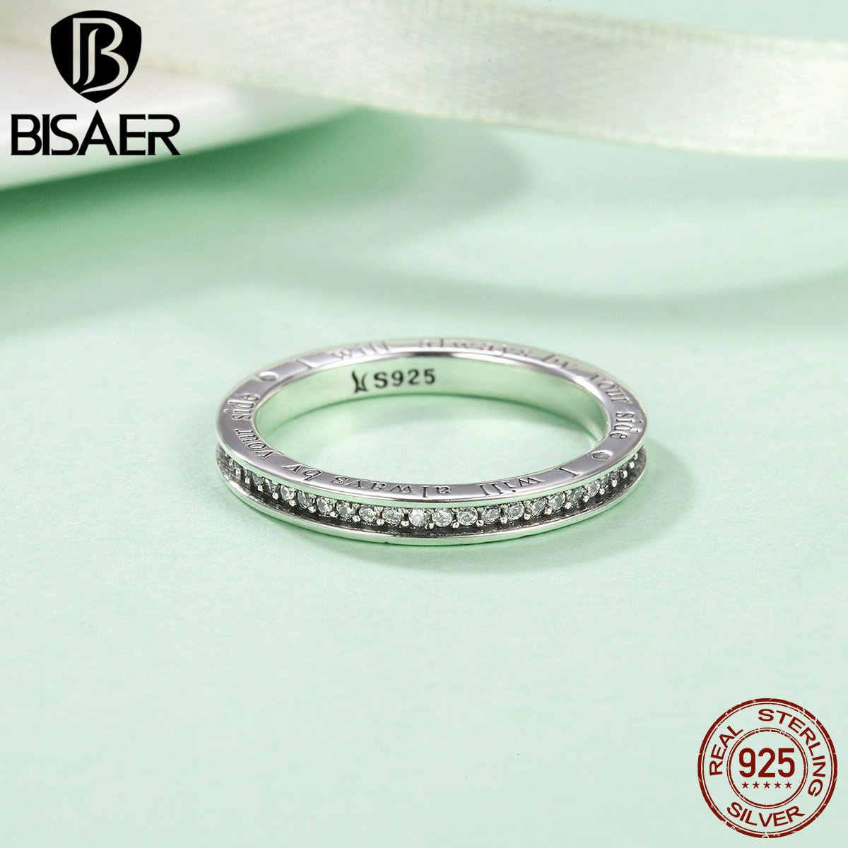 Genuine 925 Sterling Silver Si Sono Sempre Il Mio Cuore, Impilabile Anelli per Le Donne Regalo Dei Monili di Modo Autentico Originale ECR159